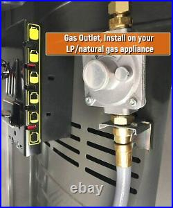 12Ft 3/8-In Natural Gas Quick Connect Hose Propane to Natural Gas Conversion Kit
