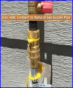 24Ft 3/8'' Natural Gas Quick Connect Hose, Propane to Natural Gas Conversion Kit