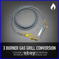 3 Bruner Grill Conversion Kit Propane Regulator Hose Parts Home Cooking Use 1 Pc