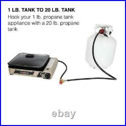 4 ft. 1 lb. To 20 lbs. Propane Adapter Hose Converter