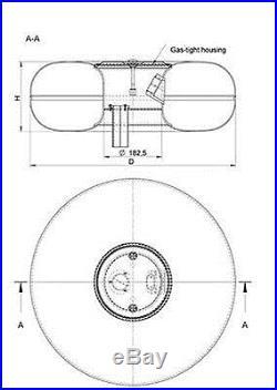 51 Liter/14 Gallon Toroidal LPG Propane Tank Conversion Kit Spare Tire Donut