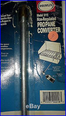 Century Primus Propane Conversion Kit for Camp Stoves. NEW #2111 Takes Seconds