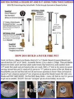 FR CK 6, 12, 18 or 24 Complete Basic Wood to Propane Fire Pit Conversion Kit