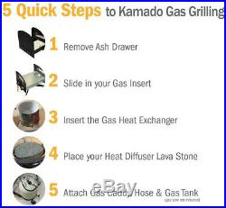 Grill Conversion Kit Battery Operated Ignition Built-in Thermocouple Caddy Cart