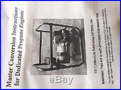 LP PROPANE CONVERSION KIT FOR BRIGGS & STRATTON 10 HP GENERAC GENERATOR