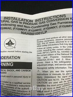 NAHB01001LP Natural Gas To Propane Conversion Kit