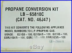 NEW IN BOX! Lennox Propane Conversion Kit LB-65810C (46J47) Diaphragm, Orfice AP
