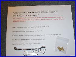 NEW Propane LP Orifice Conversion Kit Weber E-320 SIDE CONTROLS