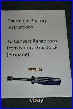 NEW Thermador PRSE484GG Rangetop LP Propane Conversion Orifice Kit