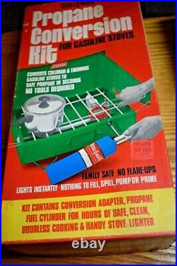 NOS Vintage BernzOmatic Propane Conversion Kit for Coleman Camp Stove New in Box