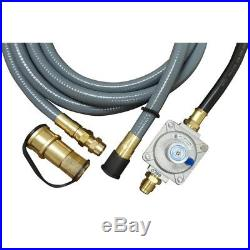 Natural Gas Conversion Kit Converts Dual Gas Propane Grill PVC Brass Aluminum