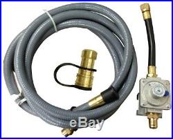 Natural Gas Conversion Kit Durable Flexible PVC Hose 10ft Propane Dual Converts