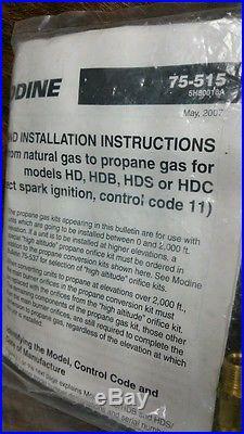 New Modine Natural Gas Propane Conversion Kit 3H037266A1 M53079 75-515 5H80018A