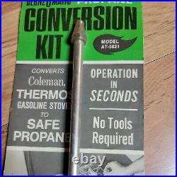 VINTAGE COLEMAN STOVE Bernzomatic Propane Conversion Kit Gasoline Gas