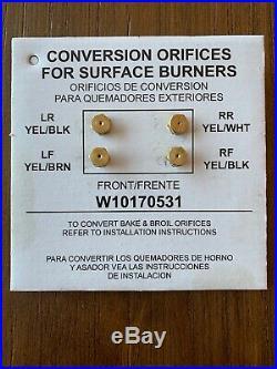 Whirlpool Natural Gas to LP (propane) Conversion Kit
