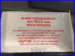 White-Rodgers 92-0659 Conversion Kit Natural Gas to L. P. Liquid Propane